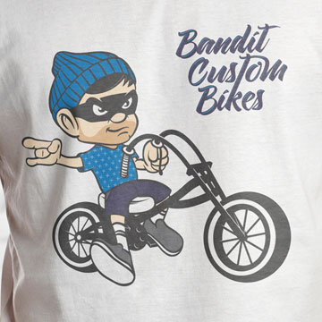 logo design bandit custom bike shop service trike mtb crosscountry lowrider