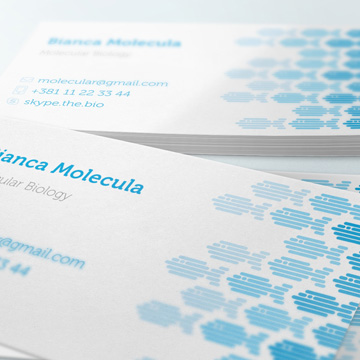 logo design businesscard molecular biology blue aqua zebrafish