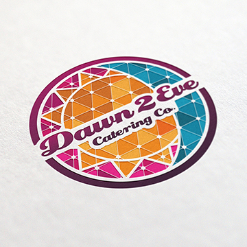 logo design catering restaurant dawn eve food celebration