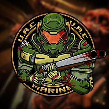 fan art doom doom4 phobos quake id marineguy fps hell patch illustration sketch doomguy