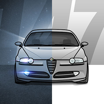 alfa romeo alfaromeo 147 alfaromeo147 alfisti car auto illustration drawing sketch illustrator photoshop vector